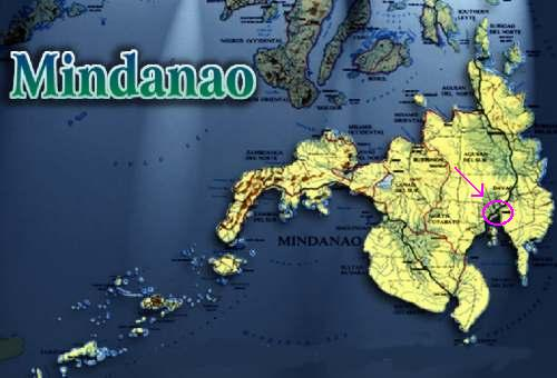 The Map of Mindanao